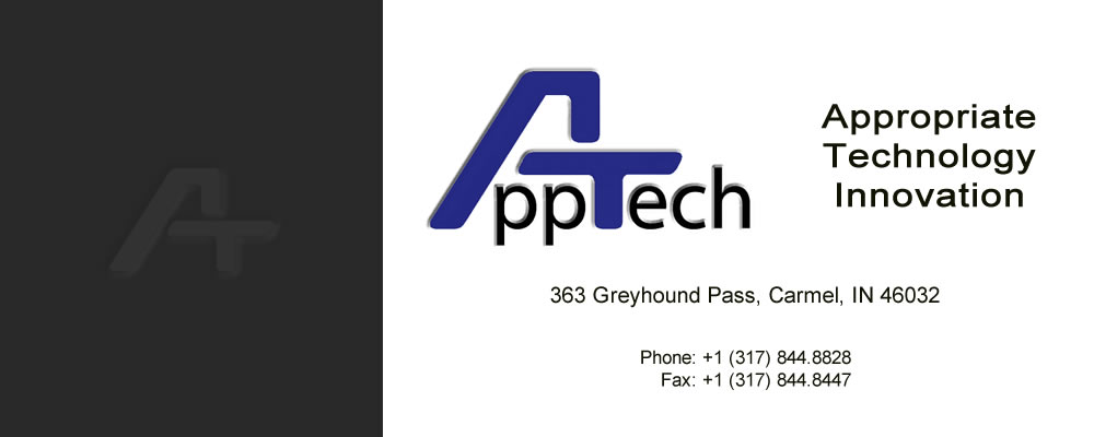 AppTech, Inc. Appropriate Technology Innovation. (317)844.8828 www.AppTechIn.com, info@AppTechIn.com